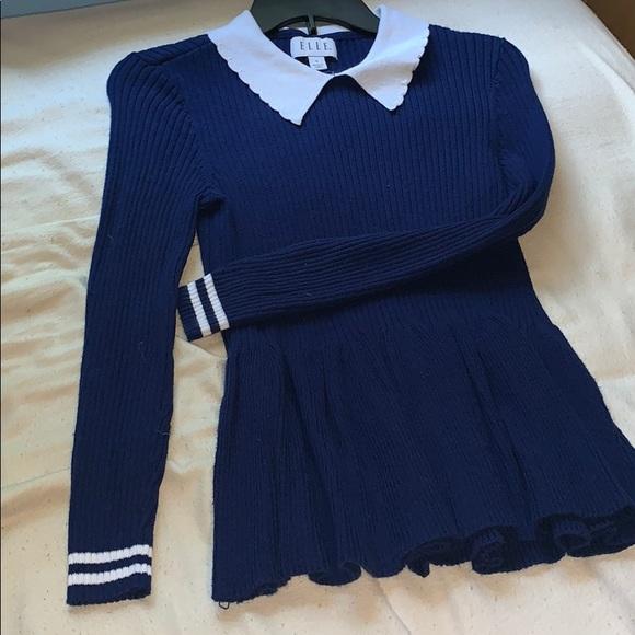 Elle Tops - cute blue Elle sweater